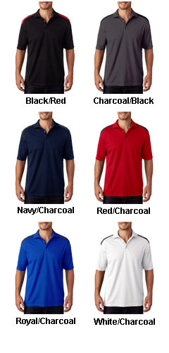 UltraClub Mens Cool & Dry 2 Tone Mesh Pique Polo - All Colors