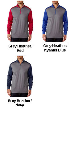 UltraClub Cool & Dry Sport 2 - Tone Quarter Zip Pullover - All Colors