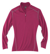 Rivers End Ladies Half Zip Mock Cover Up