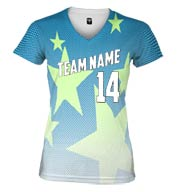Custom Spectrum Sublimated V-Neck Tee