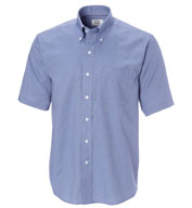 Mens Big and Tall Epic Easy Care Short Sleeve Nailshead Shirt by Cutter & Buck