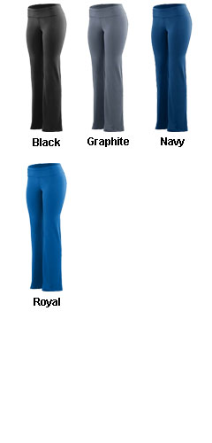 Ladies Wide Waist Poly/Spandex Pant - All Colors