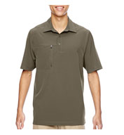Custom Mens Excursion Crosscheck Performance Woven Polo