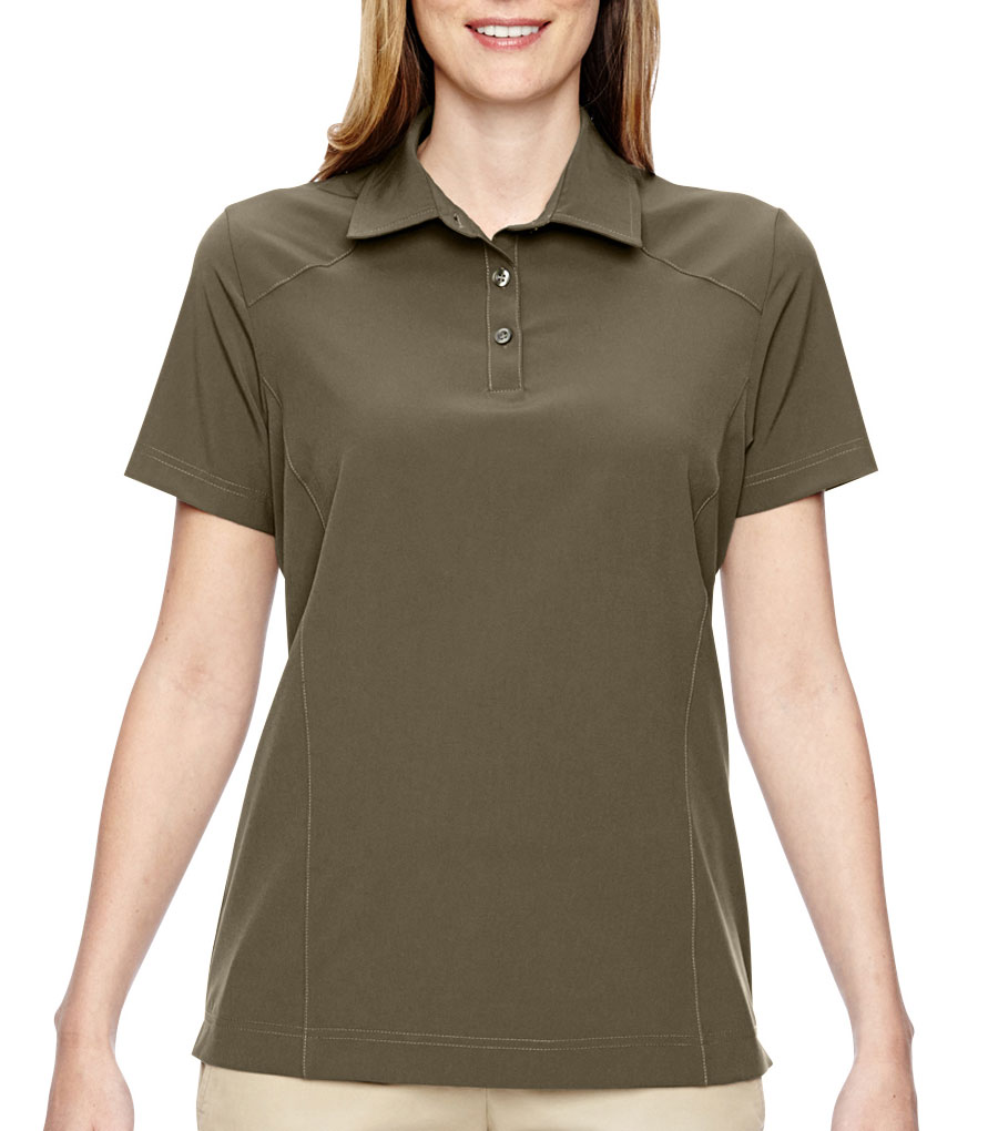 Ladies Excursion Crosscheck Performance Woven Polo