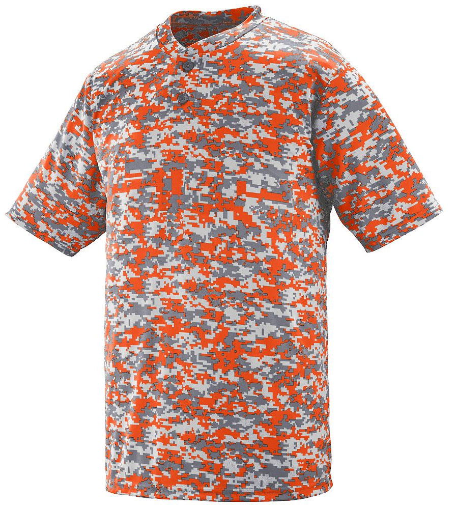 Custom Digi Camo Wicking Two-Button Baseball Jersey