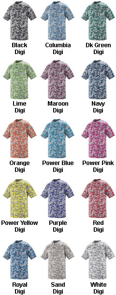 Digi Camo Youth Two-Button Jersey - All Colors