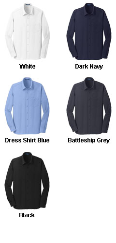 Mens Dimension Knit  Moisture Wicking Dress Shirt - All Colors