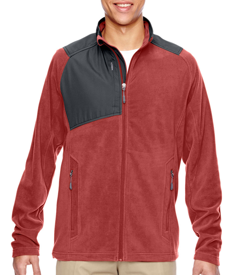 Mens Excursion Trail Fabric-Block Fleece Jacket