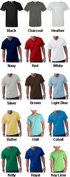 Adult Fine Jersey V-Neck T-Shirt - All Colors