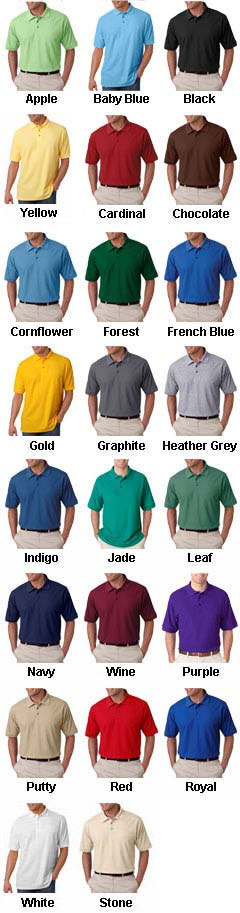 UltraClub Mens Whisper Pique Polo - All Colors