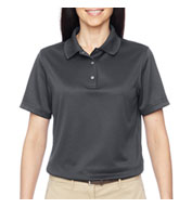 Custom Ladies Advantage Snap Placket Performance Polo