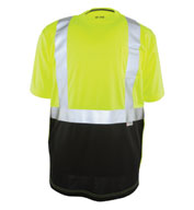 Custom Black Bottom ANSI II Hi-Vis Tee Mens