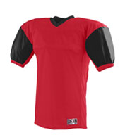 Custom Red Zone Football Jersey with Contrast Sleeves