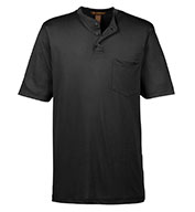 Custom Mens Prime Short-Sleeve Performance Henley Mens
