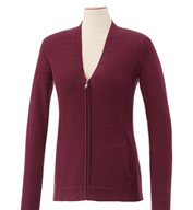Custom Ladies Lockhart Full Zip  Cotton Sweater
