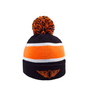 Custom Striped Beanie with Pom
