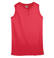 Custom Ladies Sleeveless Two-Button Softball Jersey
