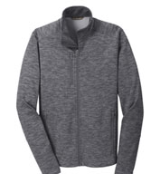 Custom Digi Stripe Fleece Jacket Mens