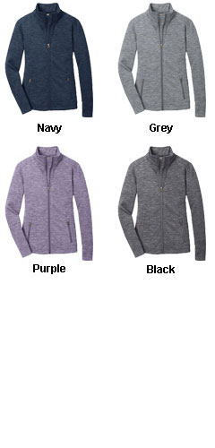 Ladies Digi Stripe Fleece Jacket  - All Colors