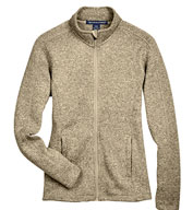 Ladies Full-Zip Sweater Fleece Jacket