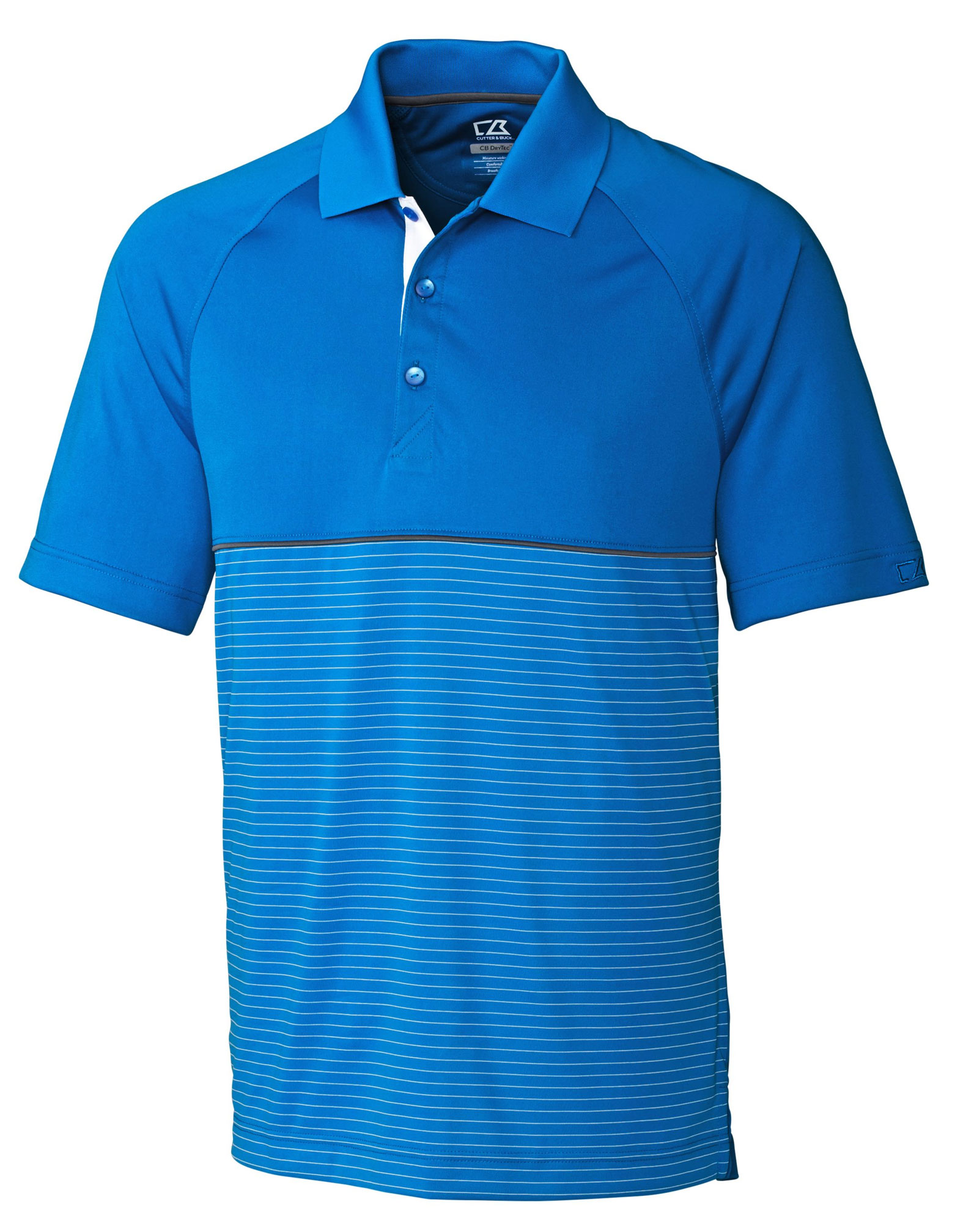 Mens CB DryTec™ Junction Stripe Hybrid Polo