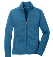 Ladies Sweater Fleece Jacket