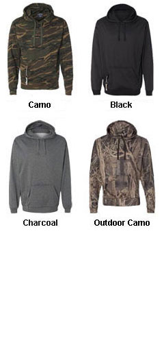 J. America Tailgate Poly Hooded Fleece - All Colors