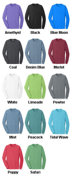 Essential Pigment-Dyed Long Sleeve Pocket Tee - All Colors