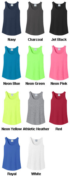 Ladies 100% Cotton Tank Top - All Colors