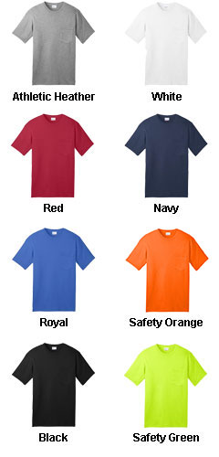 All-American Tee with Pocket - All Colors