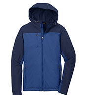 Custom Mens Hooded Colorblock Soft Shell Jacket