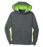 Custom Sport-Wick® Fleece Colorblock Hooded Pullover