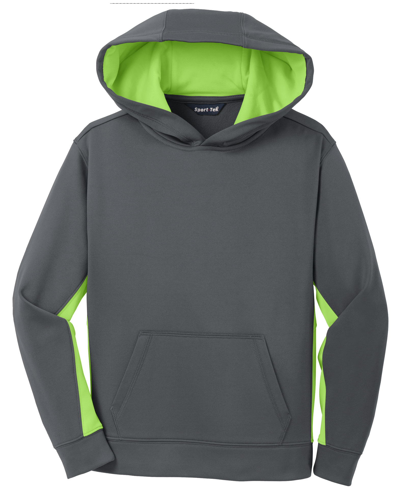 Sport-Wick® Fleece Colorblock Hooded Pullover