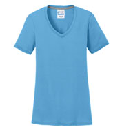 Custom Ladies Essential Blended Performance V-Neck Tee