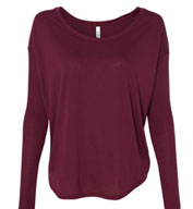 Bella Ladies Flowy Long-Sleeves Tee with 2x1 Sleeves