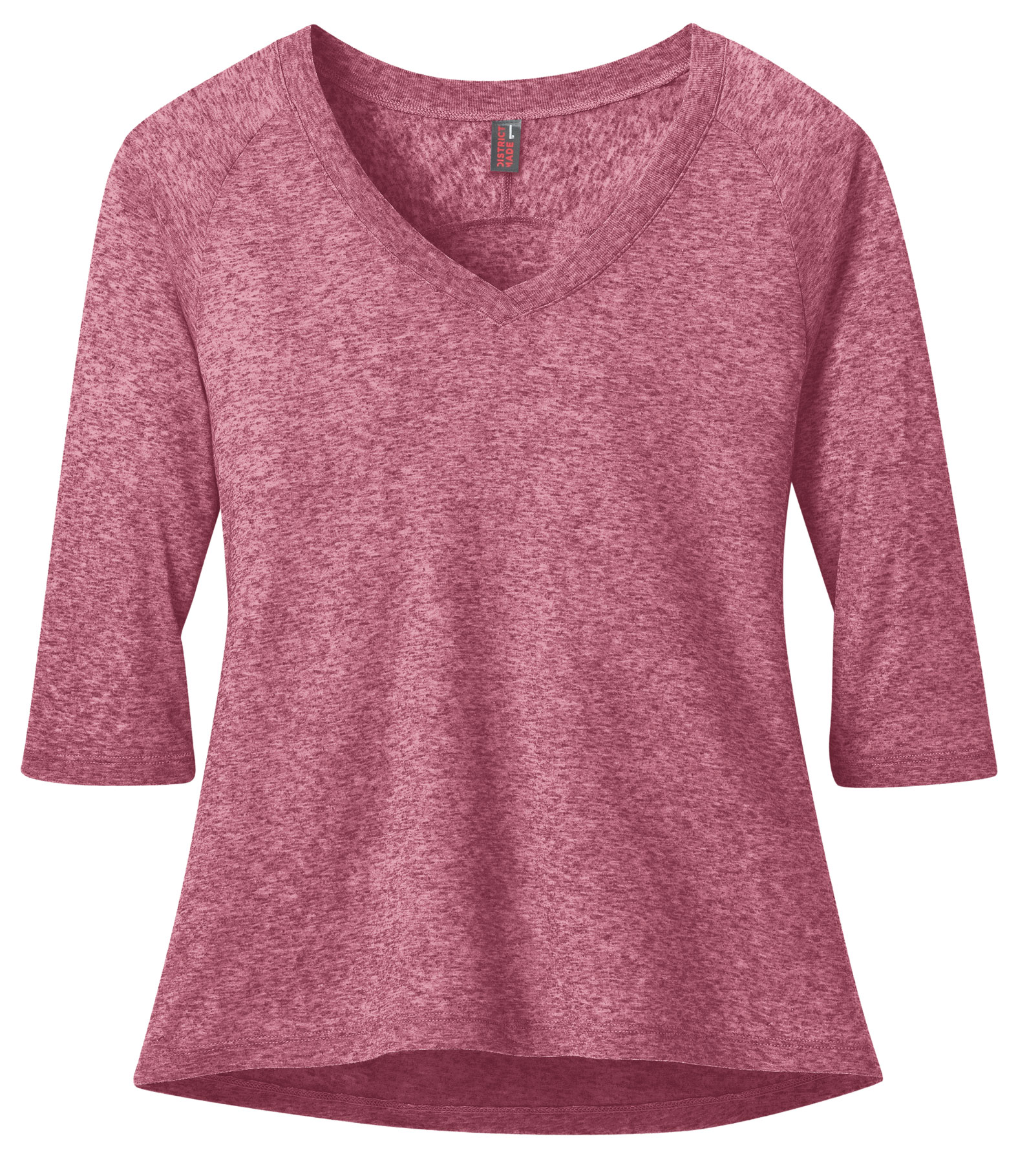 Ladies Microburn® V-Neck Raglan Tee