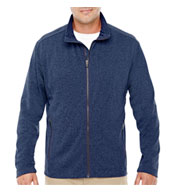 Custom Mens Fairfield Herringbone Full-Zip Jacket