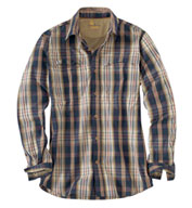 Custom Force Mandan Plaid Long Sleeve Plaid Shirt by Carhartt