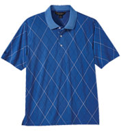 Custom Brooks Brothers Mens Performance Printed Argyle Pique Polo