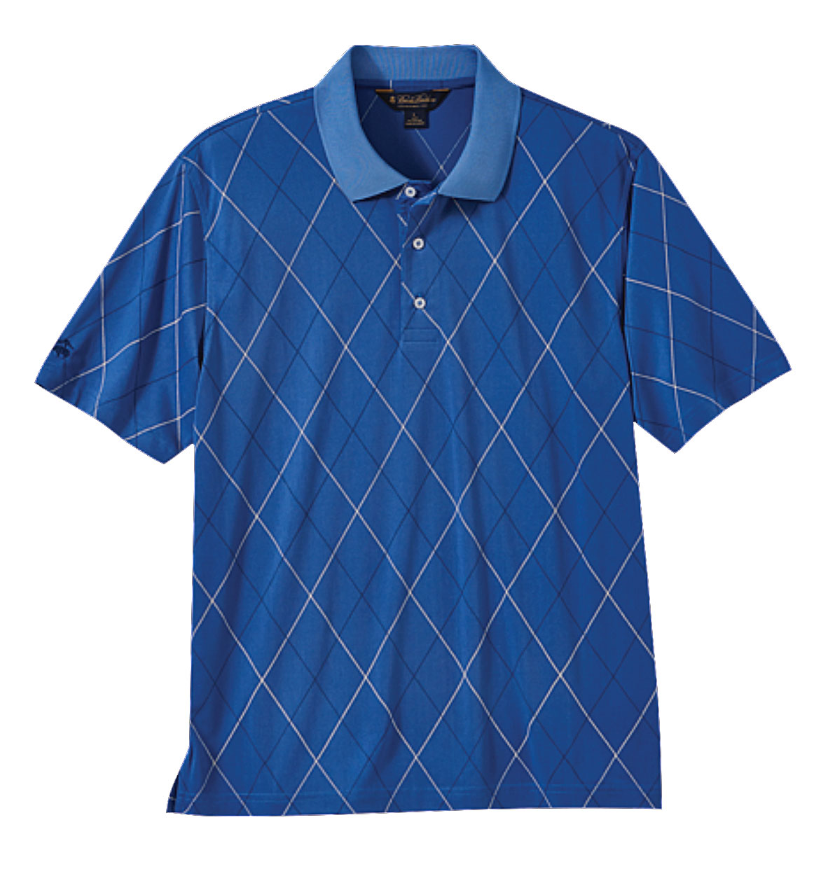Brooks Brothers Mens Performance Printed Argyle Pique Polo