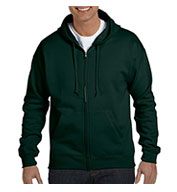 Custom Hanes EcoSmart® Full-Zip Hooded Sweatshirt