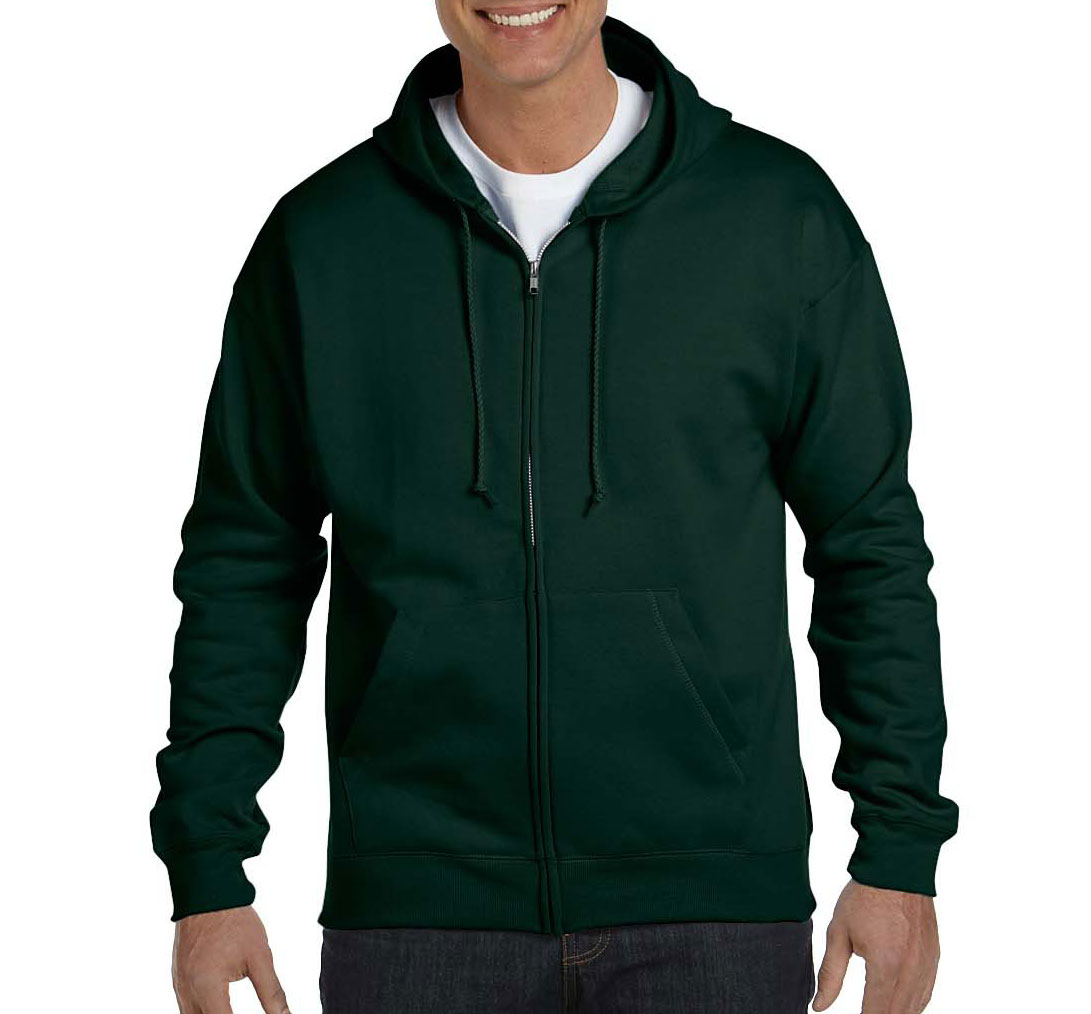 Hanes EcoSmart� Full-Zip Hooded Sweatshirt