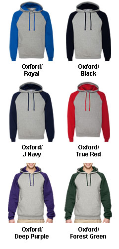 JERZEES Nublend� Colorblocked Hooded Pullover Sweatshirt - All Colors