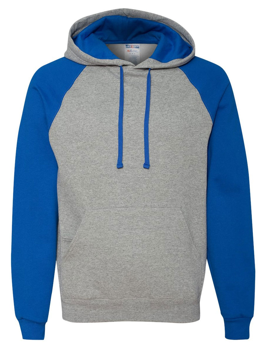 JERZEES Nublend� Colorblocked Hooded Pullover Sweatshirt