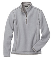 Custom Ladies Janica Waffle Knit 1/4-Zip Pullover