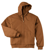 Duck Cloth Hooded Work Jacket