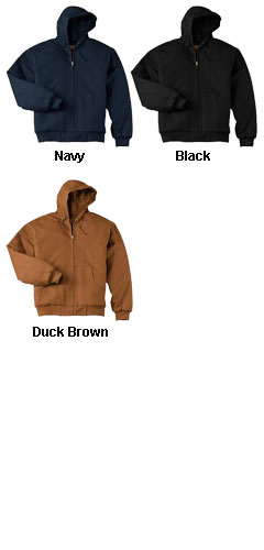 Duck Cloth Hooded Work Jacket in Tall Sizes - All Colors