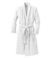 Checkered Terry Shawl Collar Robe