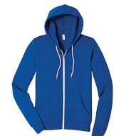 Custom Unisex Poly-Cotton Fleece Full-Zip Hoodie