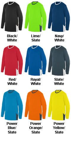 Block Out Long Sleeve Jersey - All Colors